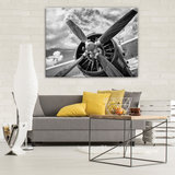 Plane propeller Canvas Schilderij PP12714O1_