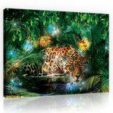 Jaguar in the Jungle Canvas Schilderij PP10212O1_