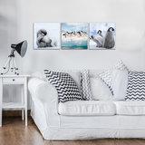 Penguins Canvas Schilderij PS10536S13_