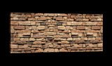 Brown Brickwall Canvas Schilderij PP20131O3_