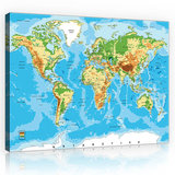 World Map Canvas Schilderij PP10250O1_