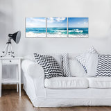 Beach and Peaceful Ocean Canvas Schilderij PS10218S13_