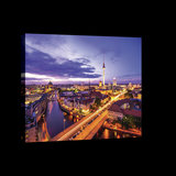 Berlin Panorama at Night Canvas Schilderij PP20084O4_