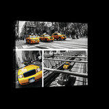 Yellow Cabs Collage Canvas Schilderij PP20243O4_