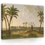 Rijksmuseum Canvas Gezicht op de Koffieplantage Suriname Willem De Klerk RMC29_