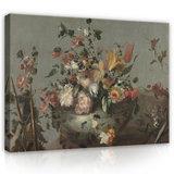 Rijksmuseum Canvas Bloemen Anoniem 1700 - 1799 RMC34_