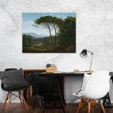 Rijksmuseum Canvas Italiaans Landschap met Pijnbomen Hendrik Voogd RMC37_
