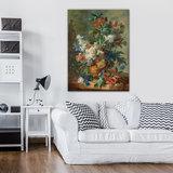 Rijksmuseum Canvas Stilleven met bloemen Jan van Huysum RMC4_