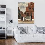 Rijksmuseum Canvas Gezicht op Huizen in Delft Johannes Vermeer RMC40_