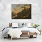 Rijksmuseum Canvas Italiaans Landschap met overzetveer Jan Both RMC49_