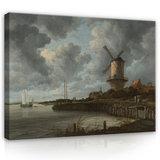 Rijksmuseum Canvas De Molen bij Wijk bij Duurstede Jacob Isaacksz. Van Ruisdael RMC50_
