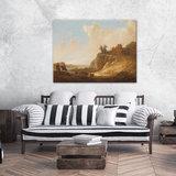 Rijksmuseum Canvas Bergachtig Landschap met kasteelruine RMC53_