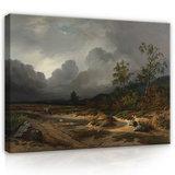 Rijksmuseum Canvas Landschap bij naderend onweer Willem Roelofs RMC58_