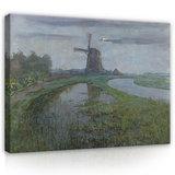 Rijksmuseum Canvas Molen bij Maanlicht Piet Mondriaan RMC59_