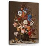 Rijksmuseum Canvas Stilleven met bloemen Balthasar van der Ast RMC9_