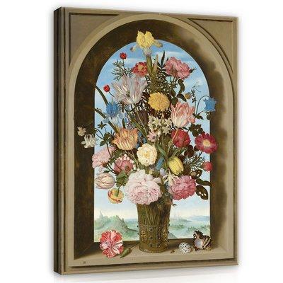 Ambrosius Bosschaert de Oude, Vaas met bloemen in een venster 1618 MHC6