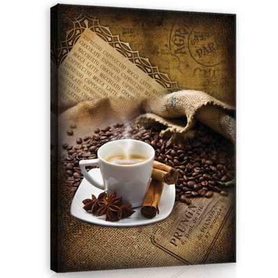 Coffee Beans and Spices Canvas Schilderij PP20218O1