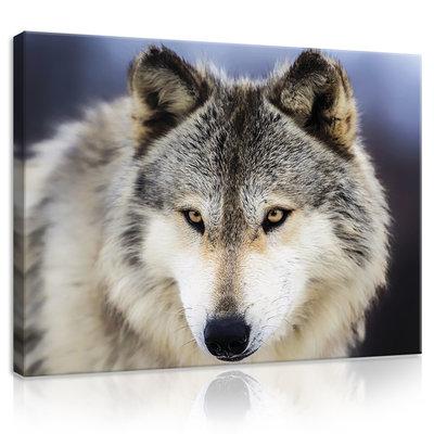 Snow Wolf Canvas Schilderij PP20308O1