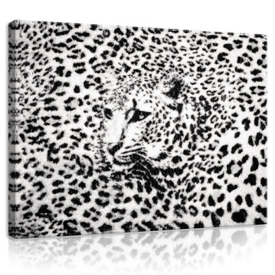 Black and White Cheetah Canvas Schilderij PP20306O1