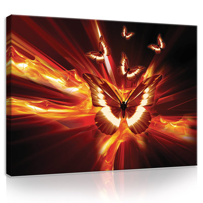 Flaming Butterflies Canvas Schilderij PP20292O1