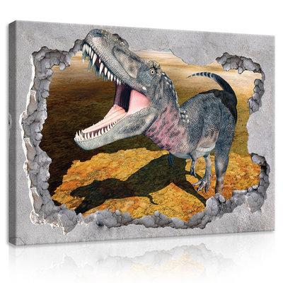 Hole - Dinosaur Canvas Schilderij PP11037O1