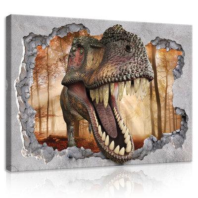 Hole - Dinosaur Canvas Schilderij PP11036O1