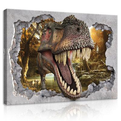 Hole - Dinosaur Canvas Schilderij PP11035O1