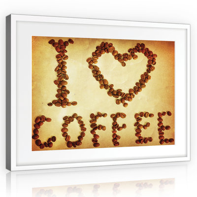 Coffee beans Canvas Schilderij PP10926O1