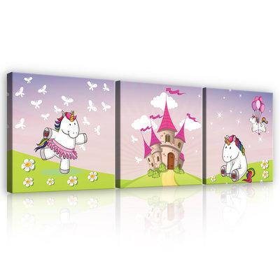 Unicorns Canvas Schilderij PS11607S13