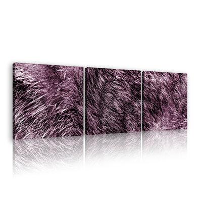 Pink fur Canvas Schilderij PS11075S13