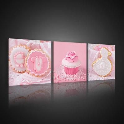 Pink Biscuits Canvas Schilderij PS10563S13