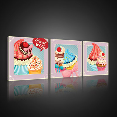 Pin Up Style Sweets Canvas Schilderij PS10558S13