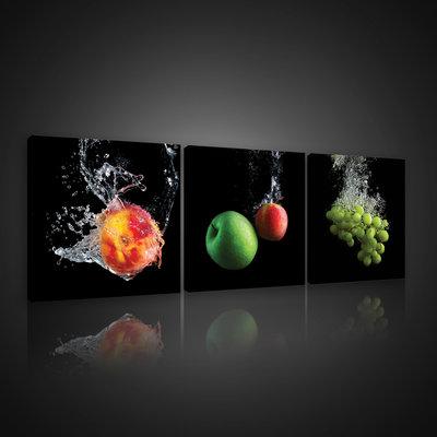 Fruits in Water Canvas Schilderij PS10550S13