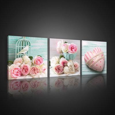 Pink Love Canvas Schilderij PS10544S13