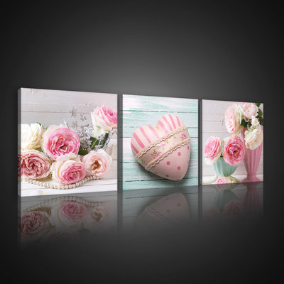 Pink Love Canvas Schilderij PS10543S13