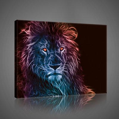 Leeuw Canvas Schilderij PP2706O1