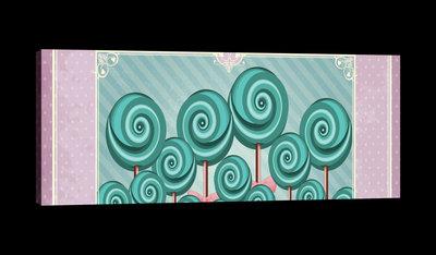 Sweet Pin Up Lollies Canvas Schilderij PP20232O3