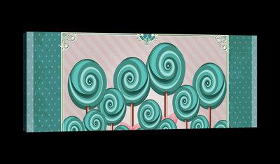 Sweet Pin Up Lollies Canvas Schilderij PP20231O3