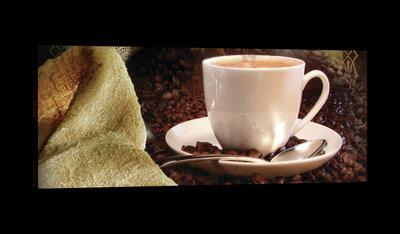 Vintage Coffeebeans Canvas Schilderij PP20225O3