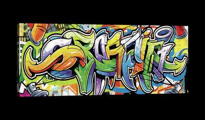 Colourful Graffiti Canvas Schilderij PP20208O3