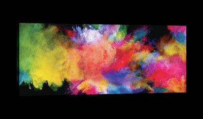 Multicolour Powder Explosion Canvas Schilderij PP20174O3