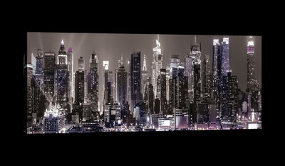 New York in Sepia Canvas Schilderij PP513O3