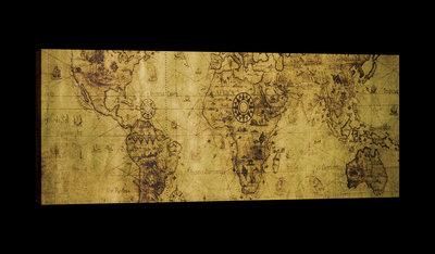 Vintage World Map Canvas Schilderij PP20270O3