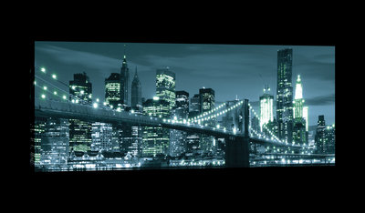 New York City and Brooklyn Bridge Canvas Schilderij PP20085O3