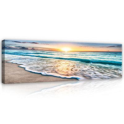Beach sunset Canvas Schilderij PP11040O3