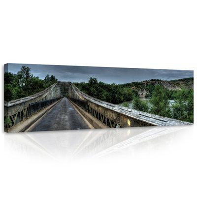 Old Metal Bridge Canvas Schilderij PP10519O3
