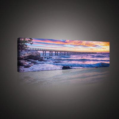 Sunset over the Sea Canvas Schilderij PP10514O3