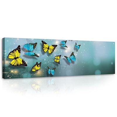 Yellow and Blue Butterflies Canvas Schilderij PP10225O3