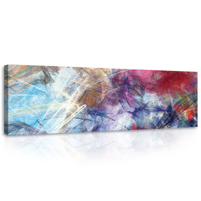 Sketched Colourful Abstraction Canvas Schilderij PP10007O3