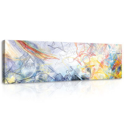 Sketched Colourful Abstraction Canvas Schilderij PP10006O3